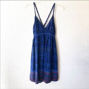 Ecote Dark Blue Dress By Urban Outfitters